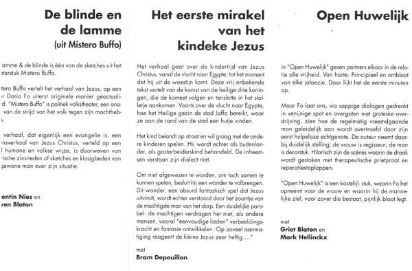 Nieuw Ophasselts Toneel - Een avondje FO (2001)